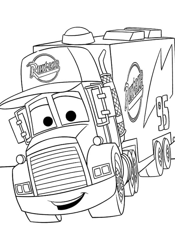Mack From Disney Cars 2 Coloring