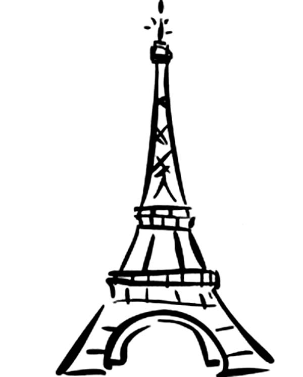 World Destination Eiffel Tower Coloring Page - Download ...
