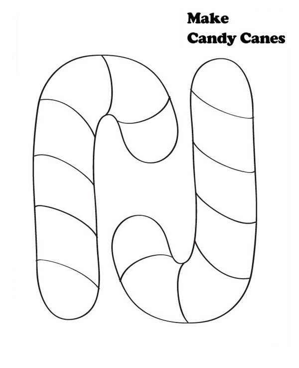 Candy Cane For Joy Christmas Coloring