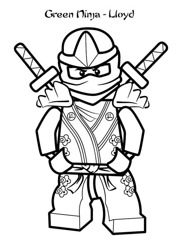 Green Ninja Lloyd Coloring Page Download Amp Print Online