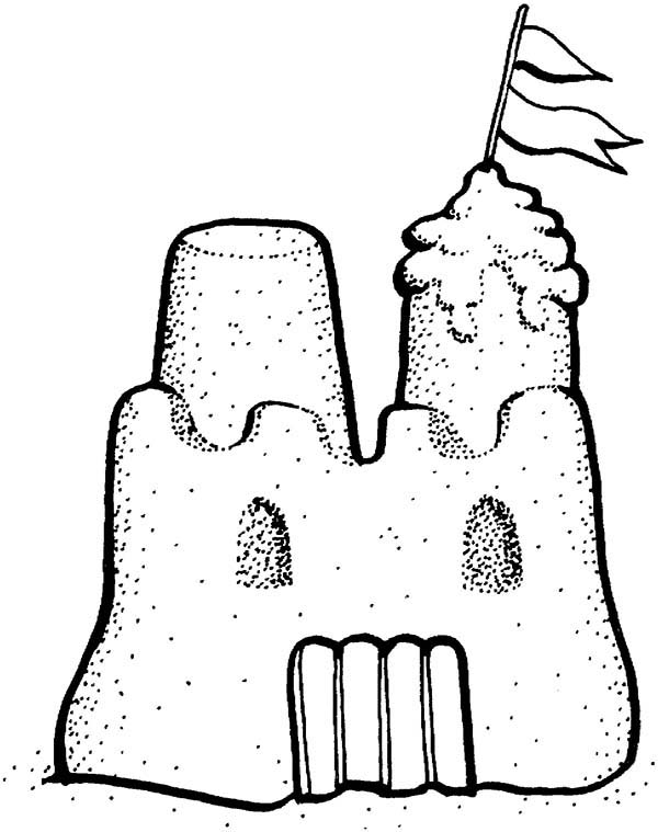 Picture Of Sand Castle Coloring Page