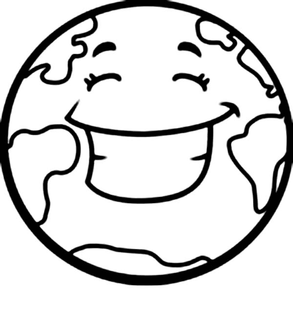 A Happy Earth On Earth Day Coloring Page - Download ...