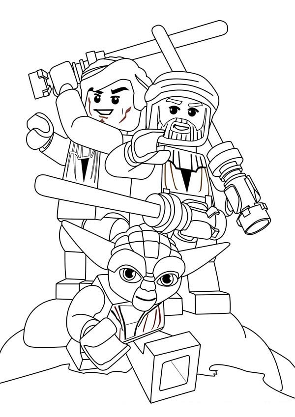 lego star wars characters coloring page  download  print