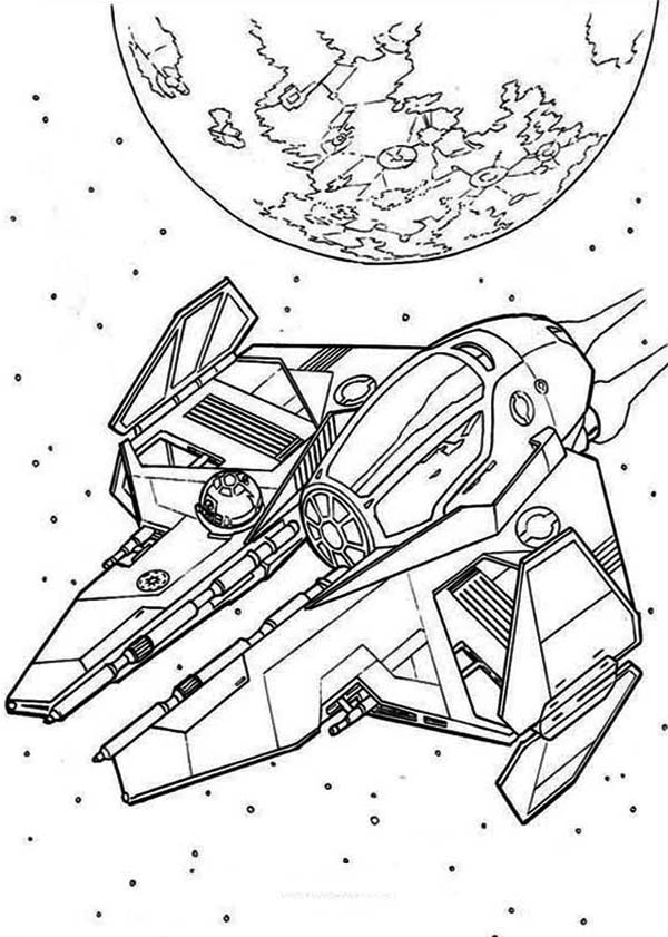 Star Wars Spaceships Coloring Page - Download & Print ...