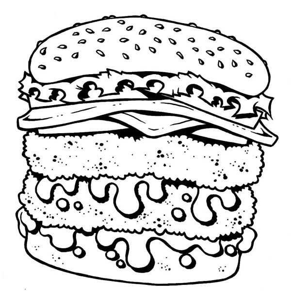coloring pages of junk food - photo#22