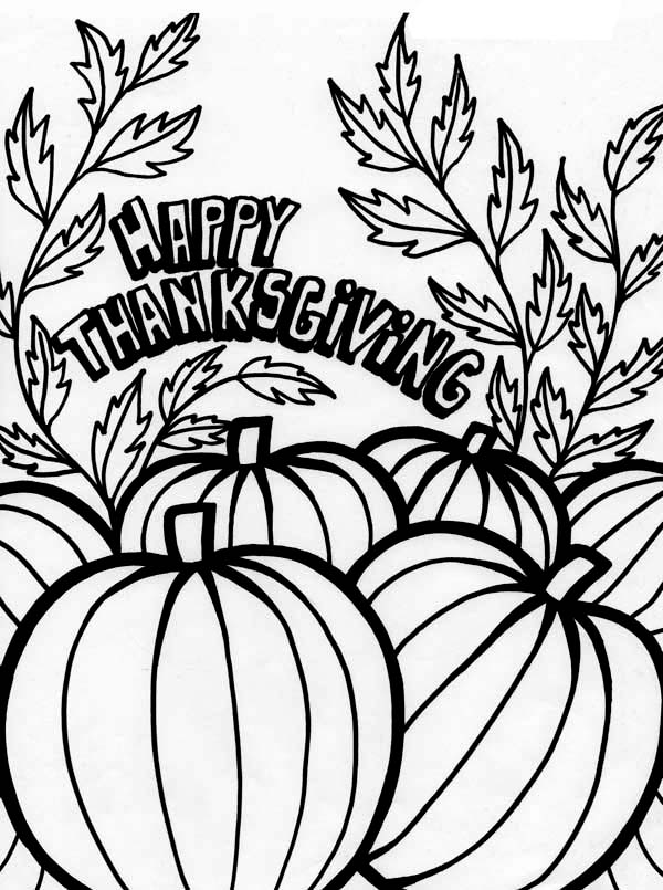 Canada Thanksgiving Day Tradition With Pumpkin Coloring ...