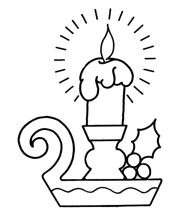 Bright Light Christmas Candle Coloring Pages - Download ...