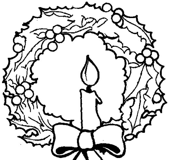 coloring pages christmas wreaths - photo#36