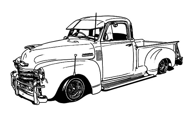 free chevy truck coloring pages