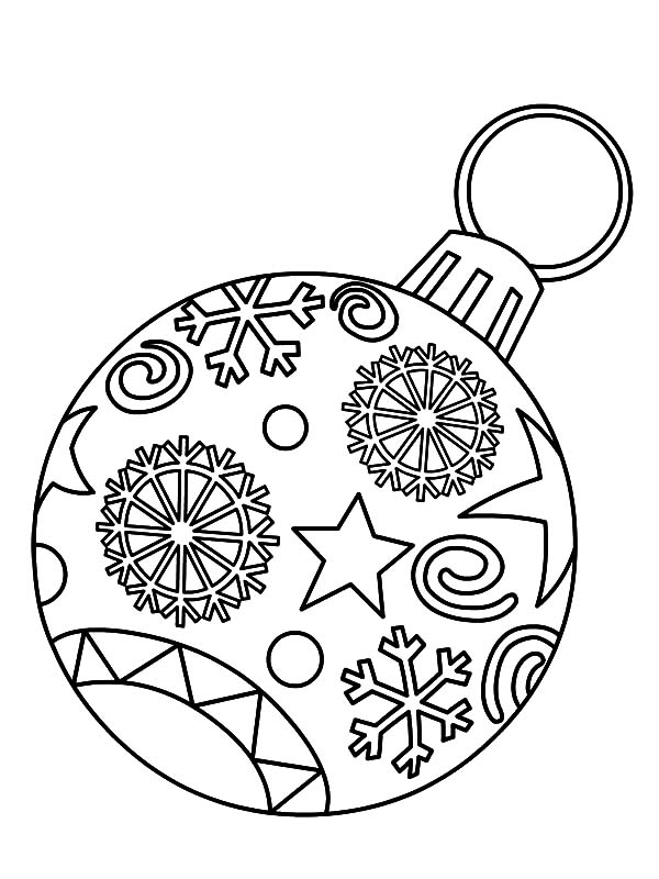 Christmas Ornament Light Bulb Coloring