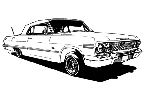 classic car modication lowrider cars coloring pages