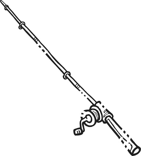 Drawing Fishing Pole Coloring Pages