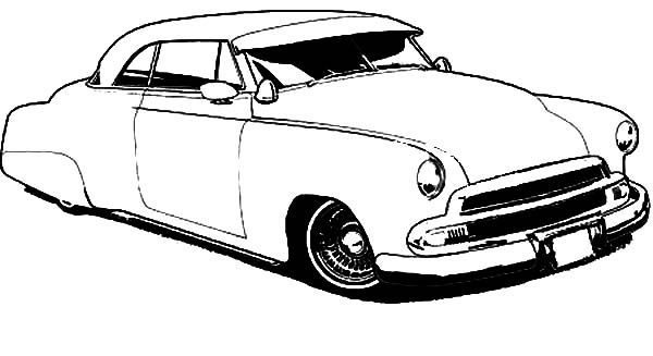 drawing lowrider cars coloring pages print