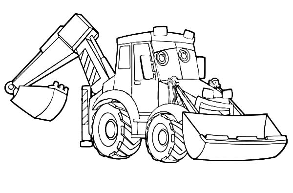 excavator coloring pages to print - photo#19