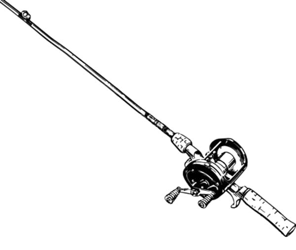 Free fishing pole coloring pages ~ Fishing Pole Designed For Marlin Coloring Pages - Download ...