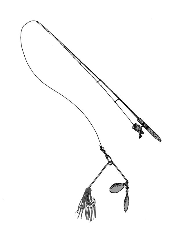 Free fishing pole coloring pages ~ Fishing Pole With Lure Coloring Pages - Download & Print ...
