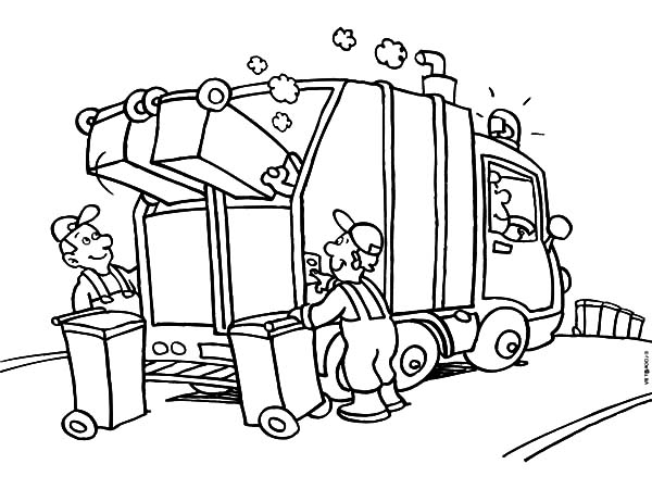 Garbage Truck Daily Activity Coloring