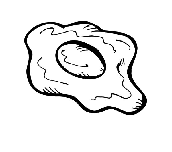 fried egg coloring page coloring pages
