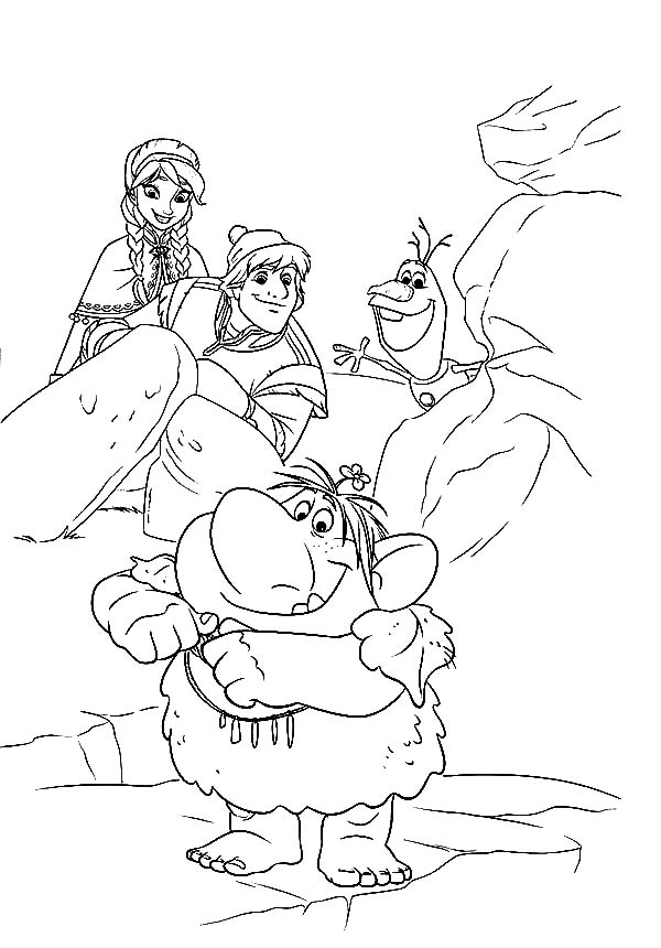 Frozen Coloring Pages Anna And