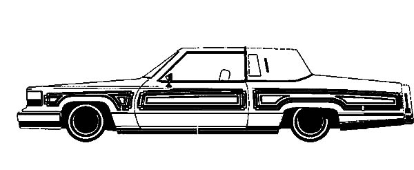 Lowrider Car Coloring Pages | Coloring Page