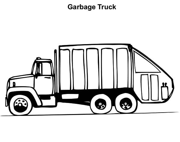 trash truck coloring pages - photo#23