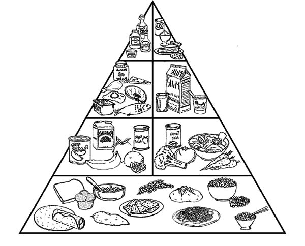 Pyramid Of Healthy Food Coloring Pages Download Amp Print