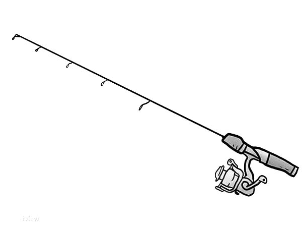 free fishing pole coloring pages - photo#8