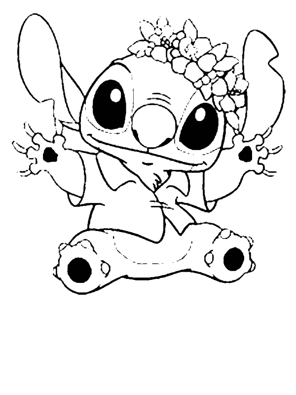Stitch In Hawaiian Outfit In Lilo